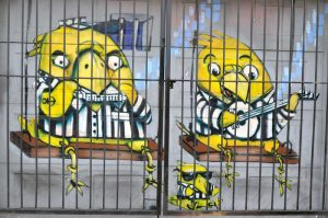 graffiti in jail