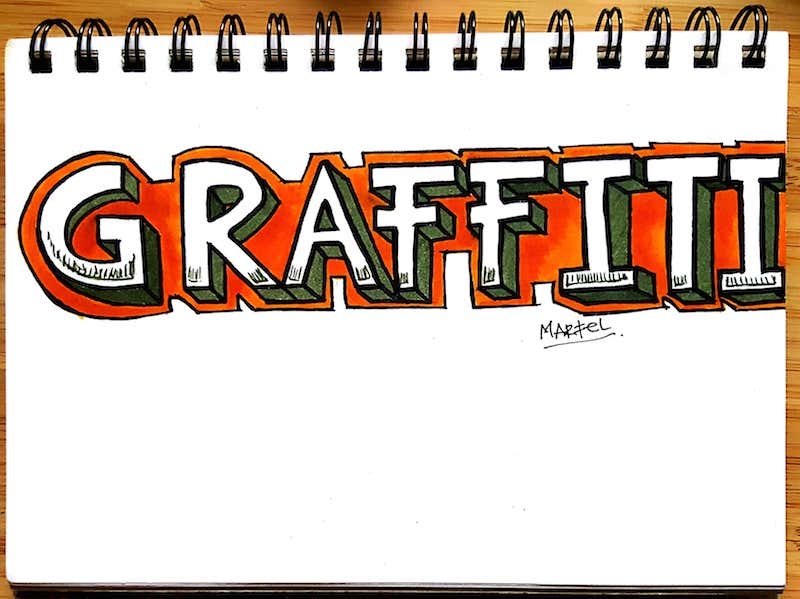 How to do 3D Graffiti Letters - Final