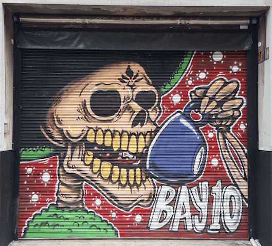 Graffiti on Rolling Door - Bay10