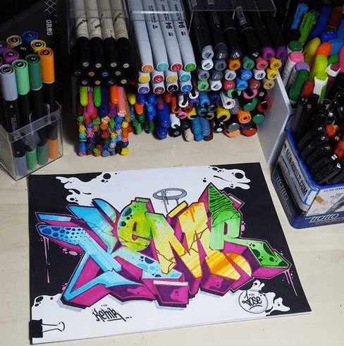 Graffiti Paint Markers
